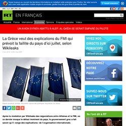 La Grèce veut des explications du FMI qui prévoit la faillite du pays d'ici juillet, selon Wikileaks
