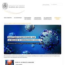 Nos fiches explicatives sur la maladie à coronavirus Covid-19