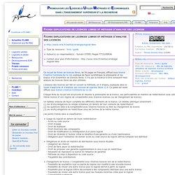 Licences libres pour les logiciels