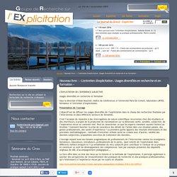Nouveau livre : « L'entretien d'explicitation. Usages diversifiés en recherche et en formation » - Expliciter.fr