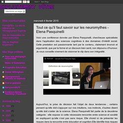 Explicitement Vôtre: Tout ce qu'il faut savoir sur les neuromythes - Elena Pasquinelli