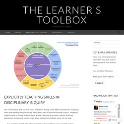 Explicitly teaching skills in disciplinary inquiry