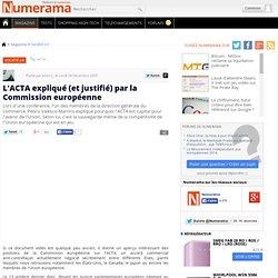 L'ACTA expliqué (et justifié) par la Commission européenne - Num