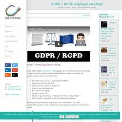 GDPR / RGPD expliqué en émoji - une vidéo ludique et claire