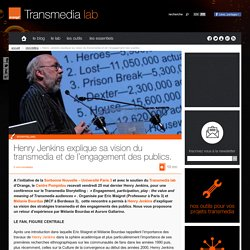 Henry Jenkins explique sa vision du transmedia et de l'engagement des publics.
