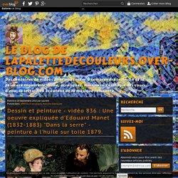 """vidéo 836 : Une oeuvre expliquée d'Edouard Manet (1832-1883) """"Dans la serre"""" - peinture à l'huile sur toile 1879."""