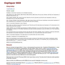 Expliquer BSD