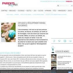 Expliquer le développement durable aux enfants