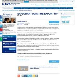 Exploitant maritime export H/F Bas-Rhin 1020985