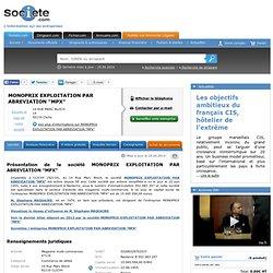 MONOPRIX EXPLOITATION PAR ABREVIATION MPX à clichy sur SOCIETE.COM (552083297)