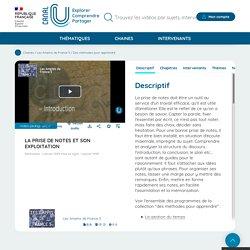 (Dont vidéo) La prise de notes et son exploitation - Les Amphis de France 5