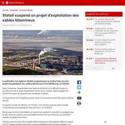 Statoil suspend un projet d'exploitation des sables bitumineux