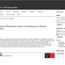Exploitation of Palestinian Labour in Contemporary Zionist Colonialism | Hever | settler colonial studies