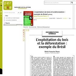L'exploitation du bois et la déforestation : exemple du Brésil