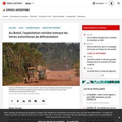 Au Brésil, l'exploitation minière menace les terres autochtones de déforestation