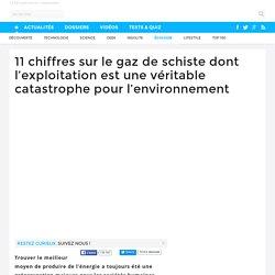 11 chiffres sur le gaz de schiste dont l'exploitation est une véritable catastrophe pour l'environnement