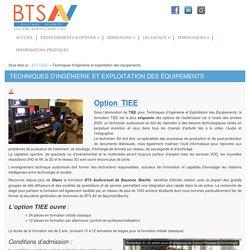 Techniques d'ingénierie et exploitation des équipements - Bts audiovisuel Bayonne Biarritz
