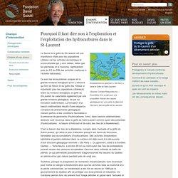 Pourquoi il faut dire non à l'exploration et l'exploitation des hydrocarbures dans le St-Laurent
