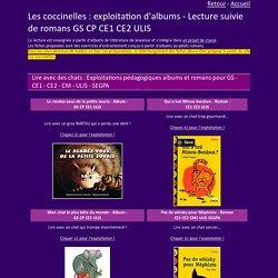 Exploitation d'albums et lectures suivies de romans GS CP CE1 CE2 CE2