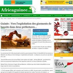 Guinée: Vers l'exploitation des gisements de bauxite dans deux préfectures…