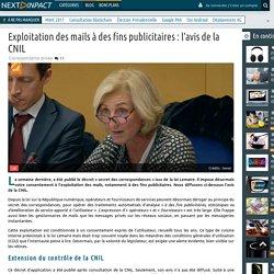 Exploitation des mails à des fins publicitaires: l'avis de la CNIL