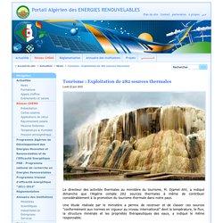 Tourisme : Exploitation de 282 sources thermales