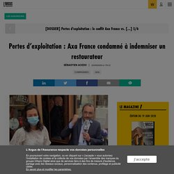 Pertes d'exploitation : Axa France condamné à indemniser un restaurateur