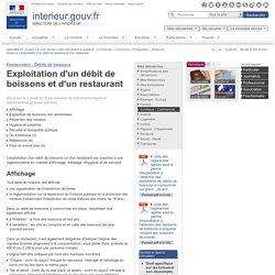 INTERIEUR_GOUV_FR 02/03/15 Exploitation d'un débit de boissons et d'un restaurant