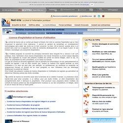 Licence d'exploitation et licence d'utilisation