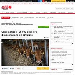 Crise agricole. 25 000 dossiers d'exploitations en difficulté