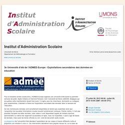 3e Université d'été de l'ADMEE-Europe - Exploitations secondaires des données en éducation