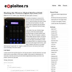 Blog Archive » Hacking the Western Digital MyCloud NAS