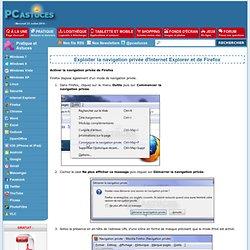 Exploiter la navigation privée d'Internet Explorer et de Firefox