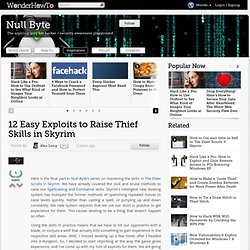 12 Easy Exploits to Raise Thief Skills in Skyrim « Null Byte - StumbleUpon
