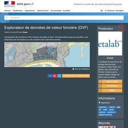 Explorateur de données de valeur foncière (DVF)