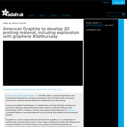 American Graphite to develop 3D printing material, including exploration with graphene #3dthursday