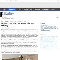 Exploration de Mars : 1er anniversaire pour Curiosity