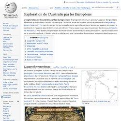 Exploration de l'Australie par les Européens