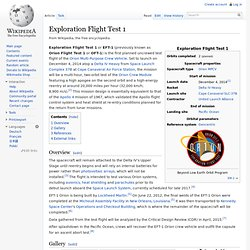 Exploration Flight Test 1