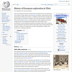 History of European exploration in Tibet