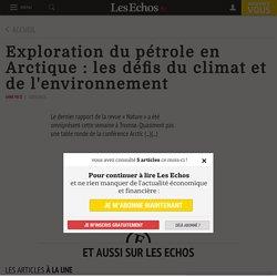 Exploration du pétrole en Arctique: les défis du climat et de l'environnement