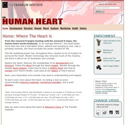 The Human Heart: An Online Exploration from The Franklin Institute, made possible by Unisys