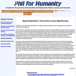 Space Exploration: Government versus Big Business « Phil for Humanity