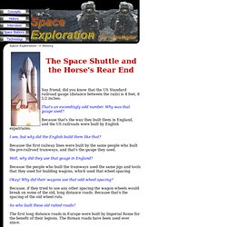 Space Exploration History: The Space Shuttle and the Horse's Rear End