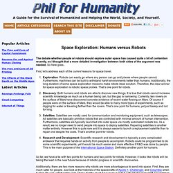 Space Exploration: Humans versus Robots « Phil for Humanity