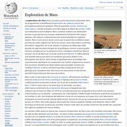 Exploration de Mars