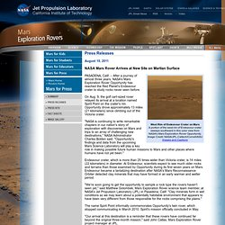 Mars Exploration Rover Mission: Press Releases