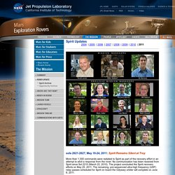 Mars Exploration Rover Mission: All Spirit Updates