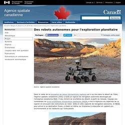 Des robots autonomes pour l'exploration planétaire