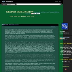 KRYDER EXPLORATION Research and Recovery Team's Official Website - EGYPT - Secrets Found